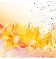 Orange triangle design background vector