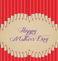 Lips kiss shape out of pencils mothers day vector