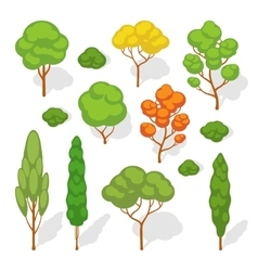 Set of the trees vector