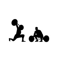 Weightlifters silhouette vector