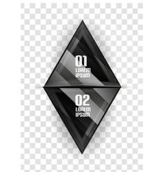 Glass geometric info background vector