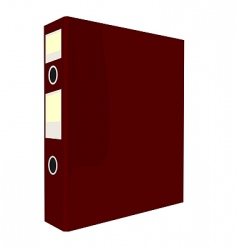 Red folder vector