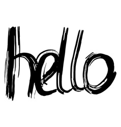 Hello hand lettering handmade calligraphy vector