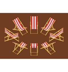Isometric deck chair vector