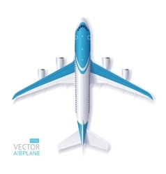 Blue airplane vector