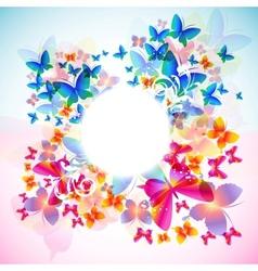Elegant butterfly frame vector