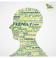 Go green environmental cloud vector