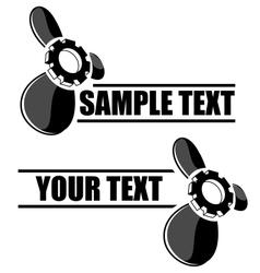 Propeller symbol vector