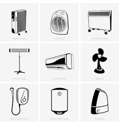 Heating and air conditioning vector