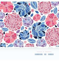 Summer flowers torn paper horizontal seamless vector
