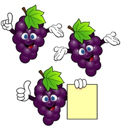 Grape cartoon vector