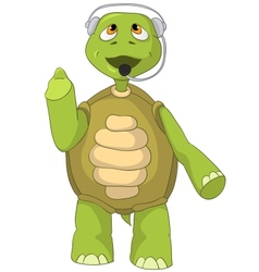 Funny turtle comunication vector