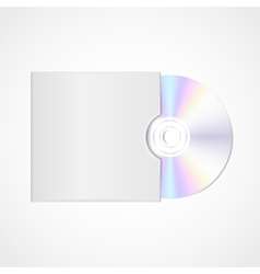 Realistic blank compact disc vector