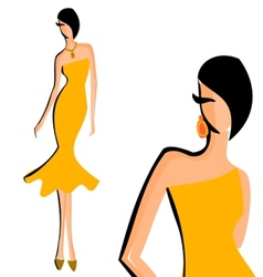 Fashion model vector