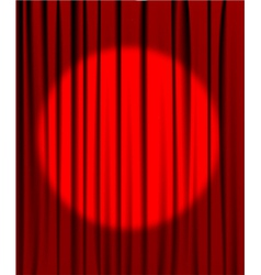 Curtain spotlight vector