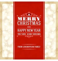 Merry christmas invitation card ornament decoratio vector