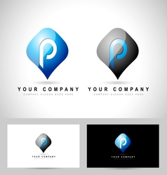 Letter p creative vector