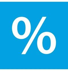 Percent white icon vector