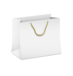 White shopping paper bag vector