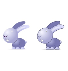 Violet rabbit vector