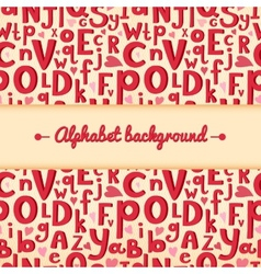 Background with latin letters of different sizes vector