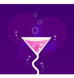 Martini cocktail vector