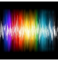 Equalizer abstract sound waves vector