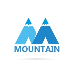 Logo of mountains in style of m vector