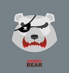 Polar bear head angry bear logo hockey emblem vector
