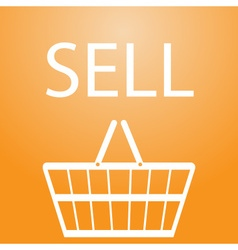 Sell slogan and shopping basket symbol eps10 vector