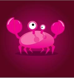 Funny cartoon crab vector