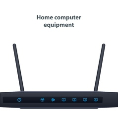 Wireless router with two antenna vector