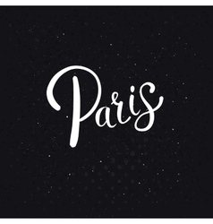 White paris text on an abstract black background vector