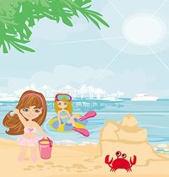Fun on the beach vector