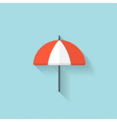 Beach umbrella web flat icon vector