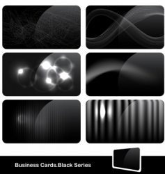 Stylish black business cards vector