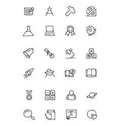 Education hand drawn doodle icons 2 vector