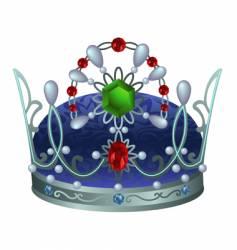 Silver royal crown vector