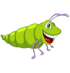 Cartoon character caterpillar vector