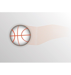 Light basketball ball vector
