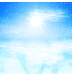 Winter sunny day background vector