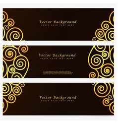 Set vintage abstract banner vector