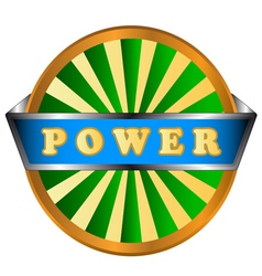 Power green circle logo vector