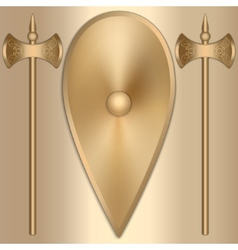 Abstract of old gold greek vector