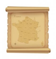 Parchment map vector