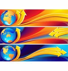 Globe banner vector