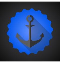 Antique travel anchor flat icon vector