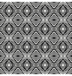 Simple geometric black and white pattern vector
