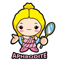 Aphrodite the goddess of beauty vector