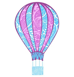 Hot air balloon isolated on white background vector